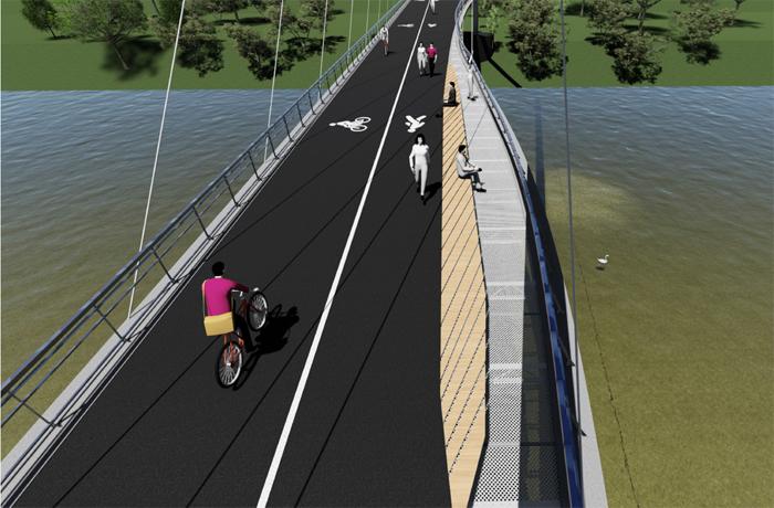 Cum va arăta podul pietonal. Va lega centrul orașului de Shopping City Satu Mare