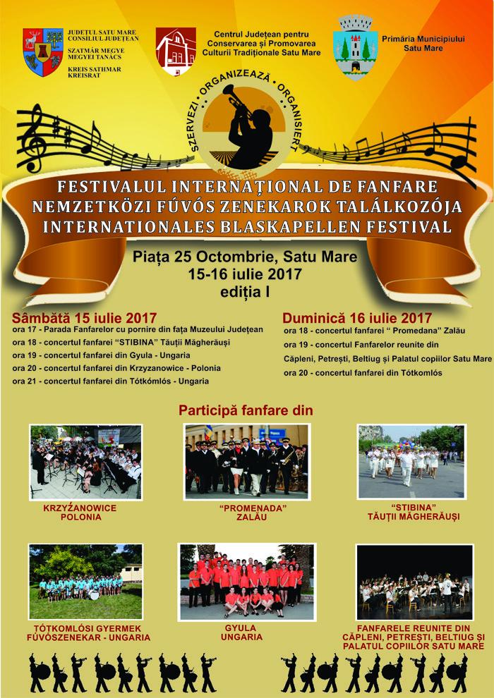 Invitați din trei țări la Festivalul de Fanfare de la Satu Mare. Când va avea loc