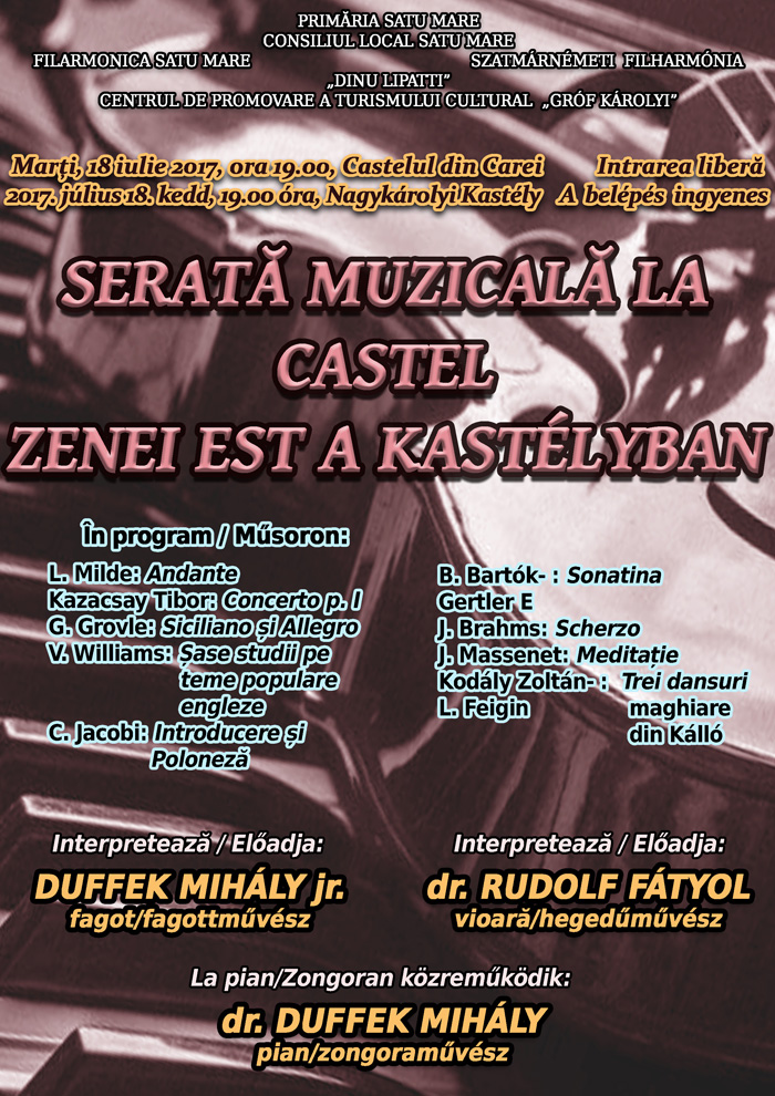 Serată muzicală la Castelul Károlyi