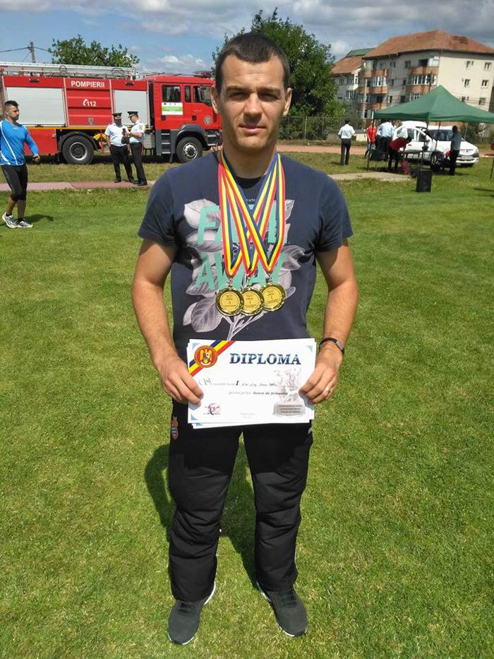 Sătmăreanul Marian Demian, printre cei mai buni pompieri din țară (Foto)