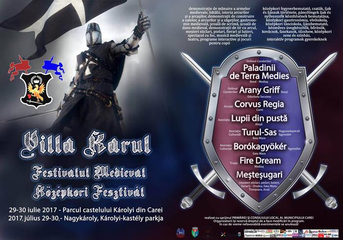 """Festivalul Medieval """"Villa Karul"""", în week-end, la Carei"""
