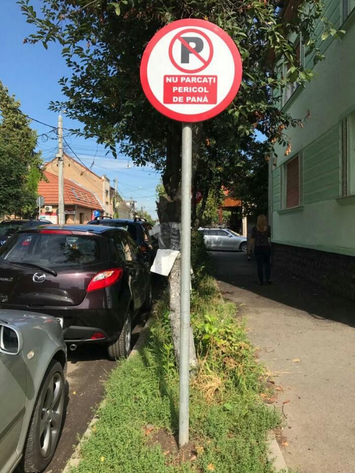 """Indicator buclucaș, """"plantat"""" de un om de afaceri. Polițiștii l-au amendat (foto)"""