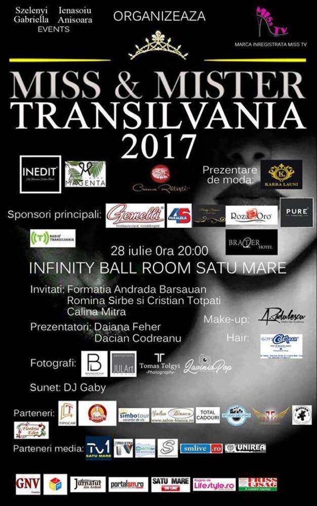 Miss & Mister Transilvania, vineri, la Satu Mare