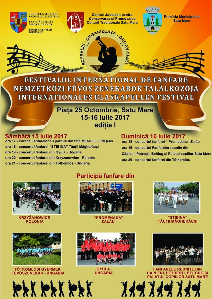Astăzi se dă startul Festivalului Internațional de Fanfare. Vezi programul evenimentului