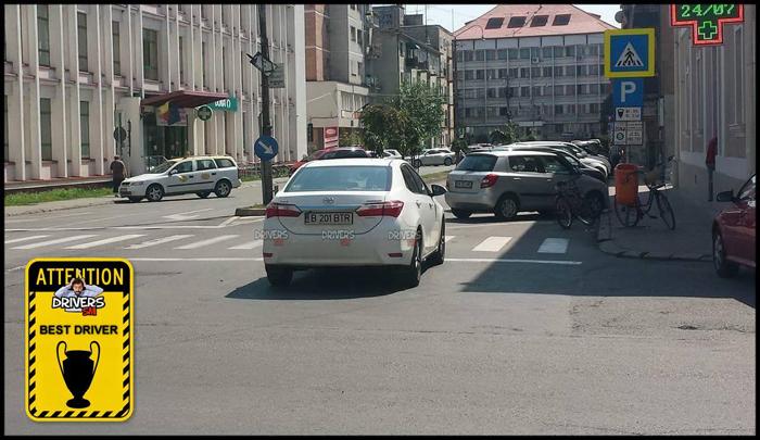 A blocat strada, la doi pași de Poliție (Foto)