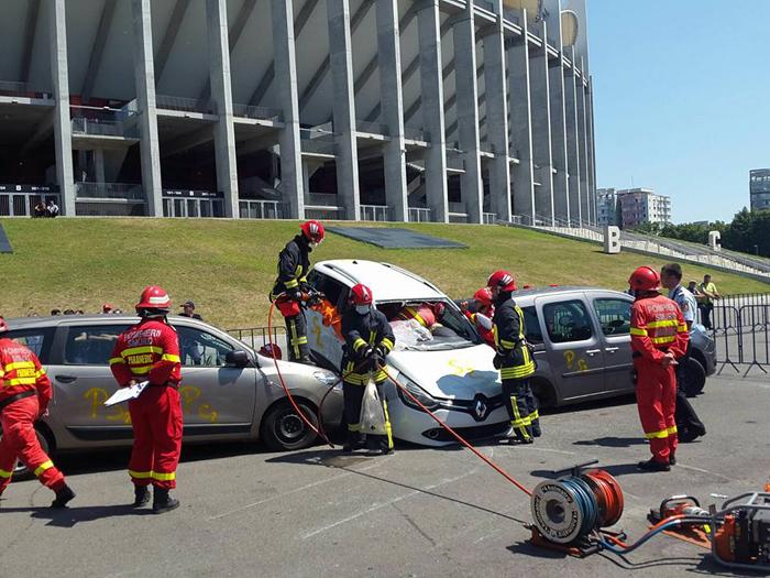 Pompierii sătmăreni, în finala Competiției Naționale de Descarcerare (Foto)