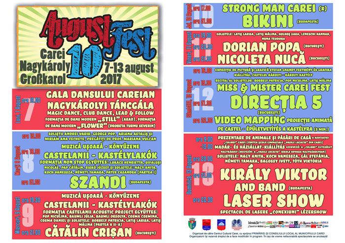 Augustfest, la a X-a ediție. Vezi programul