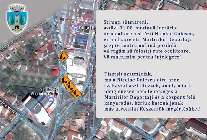Restricții de circulație în municipiu. Vezi unde