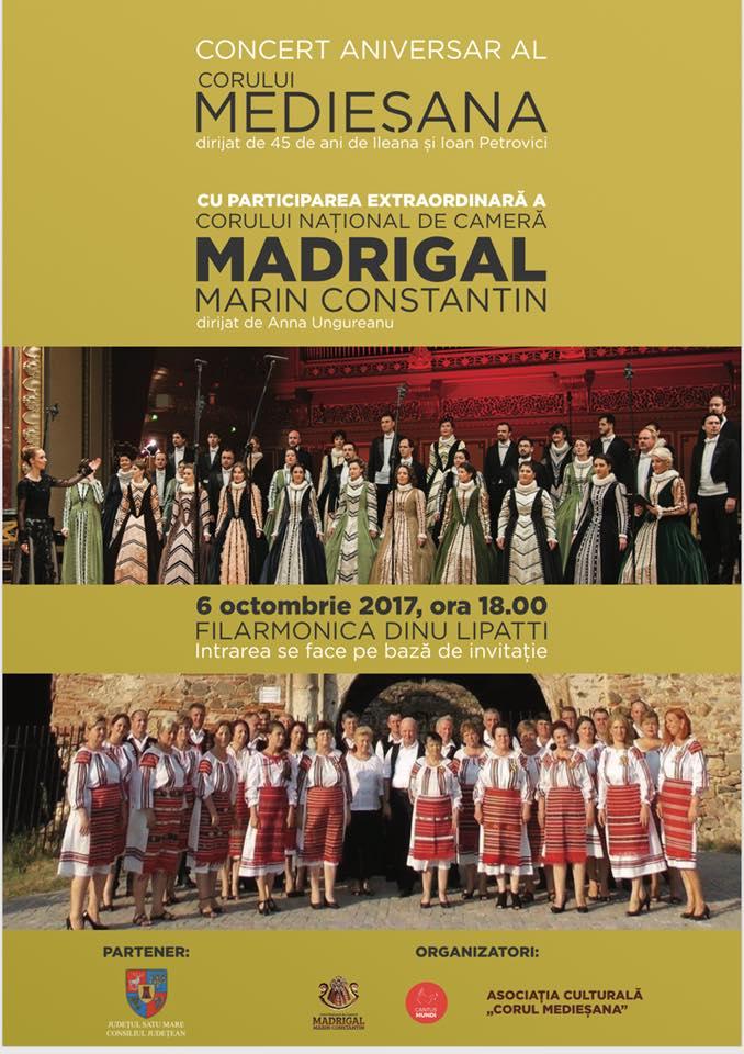 """Corul """"Medieșana"""" va concerta pe scena Filarmonicii """"Dinu Lipatti"""""""