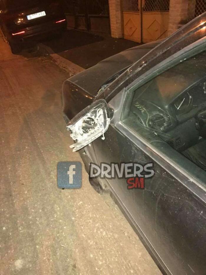 Taxi din Satu Mare vandalizat în Cluj (Foto)