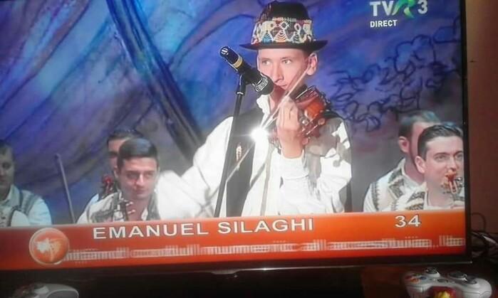 Succes răsunător ! Locul I pentru Emanuel Silaghi la Concursul Național de Folclor (foto)