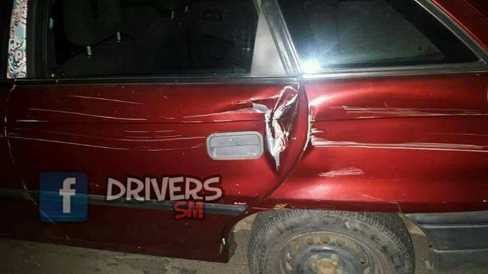 Mașina unui sătmărean, distrusă în Cluj-Napoca (foto)