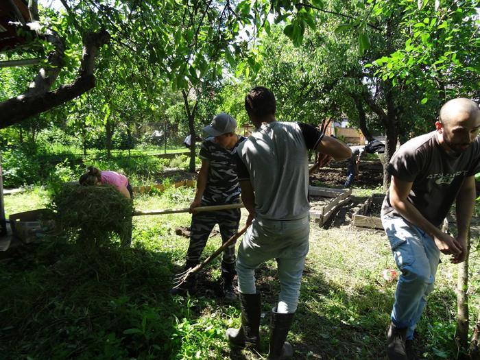 """Tinerii Asociației """"Stea"""" se mândresc cu munca lor. Grădina Stea se dezvoltă (Foto)"""