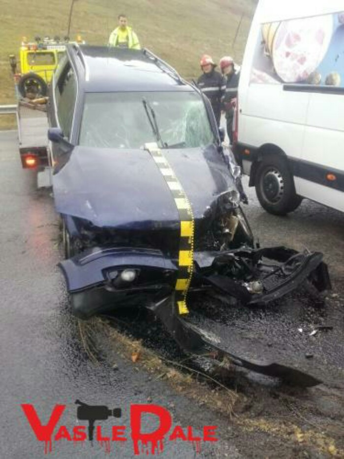Accident grav. O familie de sătmăreni, la spital (foto)