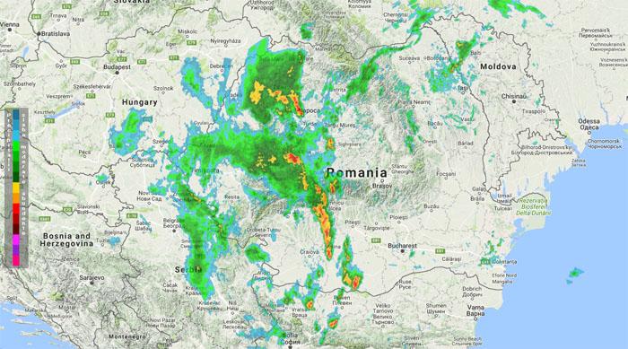 Evoluția furtunilor, în timp real. Care este situația în județul Satu Mare (Video)