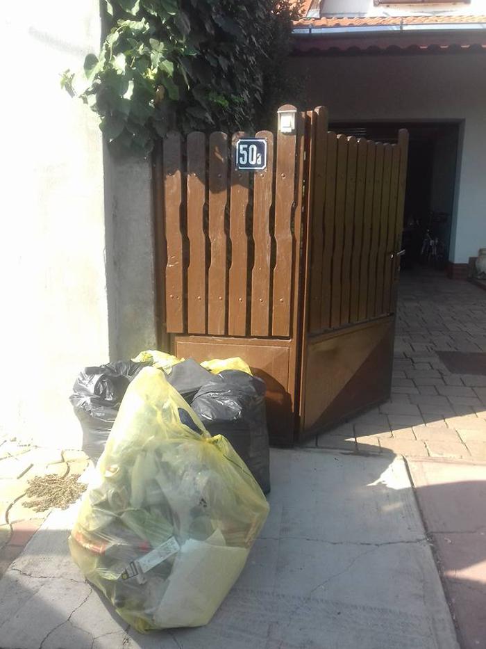 Sătmăreni, lăsați cu gunoiul în fața porții. Vezi motivul