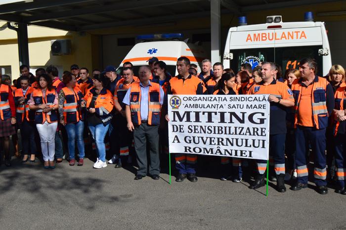 Protest la Ambulanța Satu Mare (Foto&video)