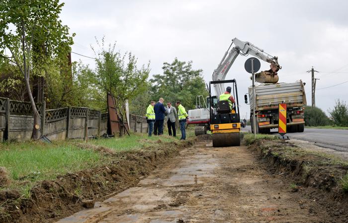 Au început lucrările la pista de biciclete de pe strada Barițiu