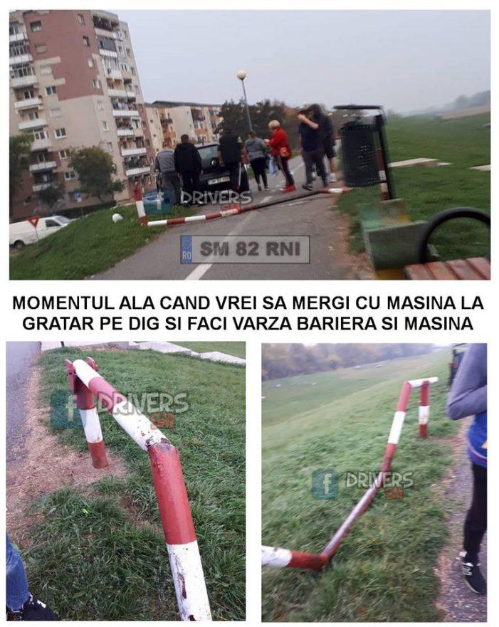 Teribilism pe dig ! Au distrus o barieră (Foto)