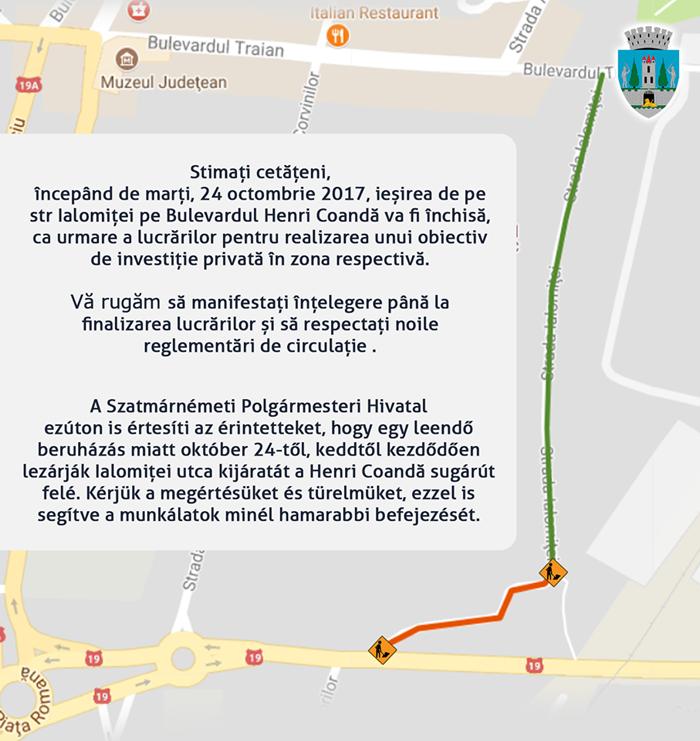 Restricții de circulație în municipiu. De când și unde
