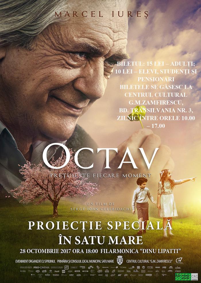 """Filmul """"Octav"""" are proiecție specială la Satu Mare"""