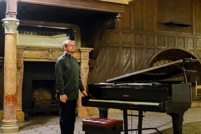 Recital de pian la Castelul din Carei