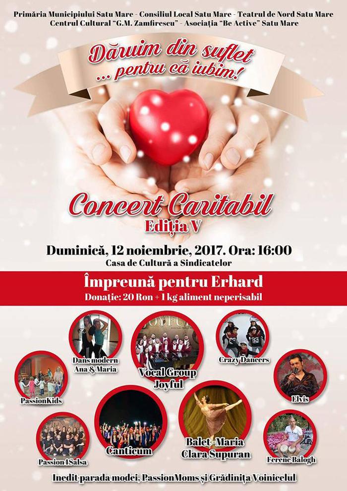 Să-l ajutăm pe Erhard ! Concert caritabil la Satu Mare