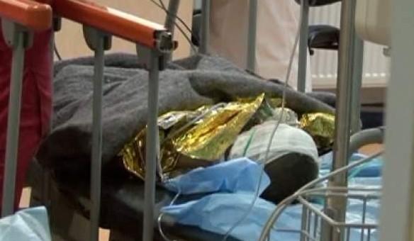 Bărbat cu arsuri, transportat la spital