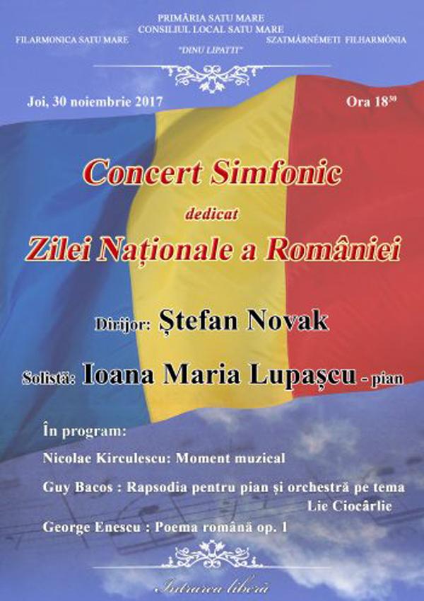 Concert dedicat Zilei Naționale la Filarmonică