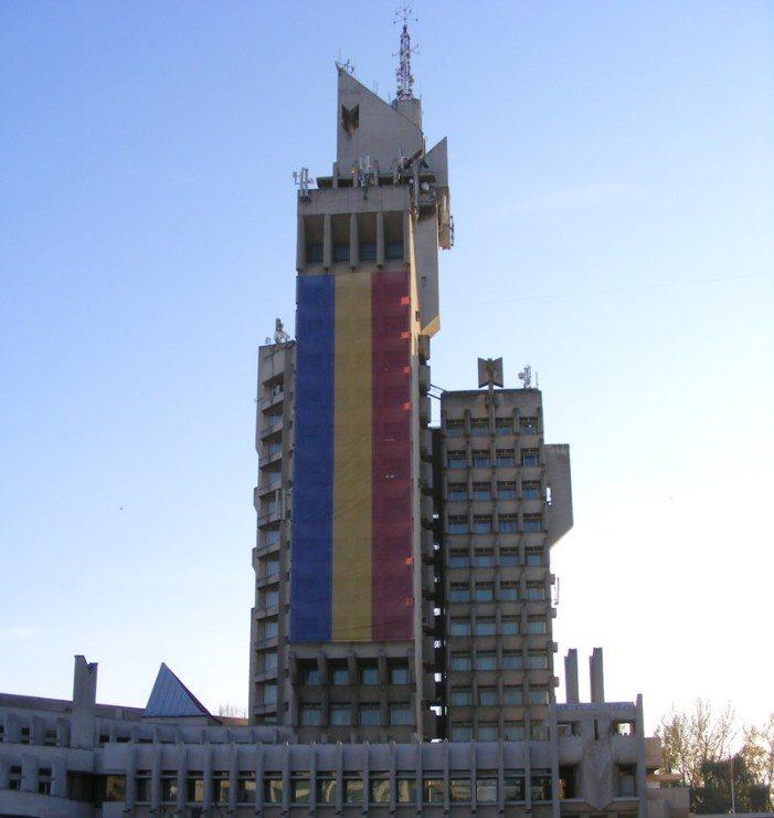 Palatul Administrativ îmbrăcat în straie de sărbătoare