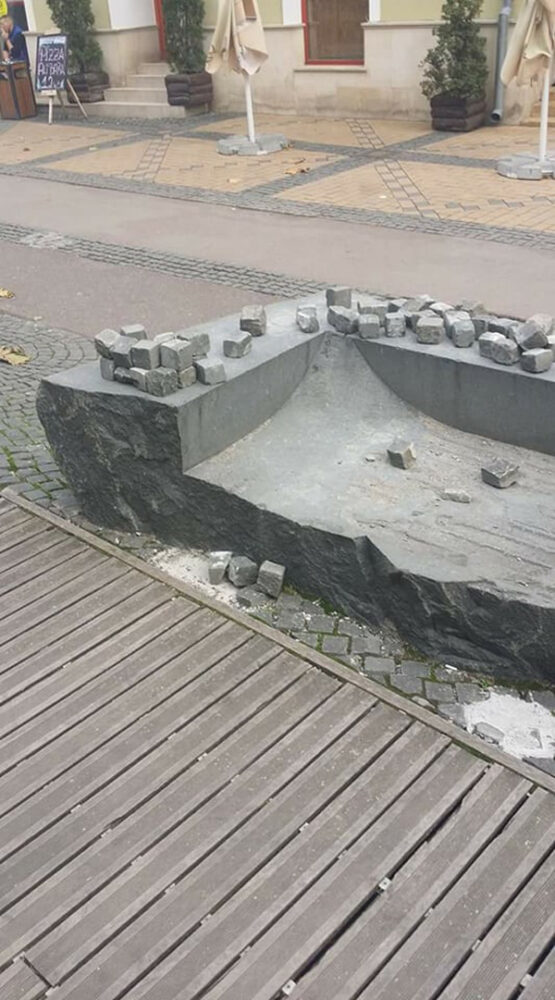 Pietrele de pe Coposu, pericol public