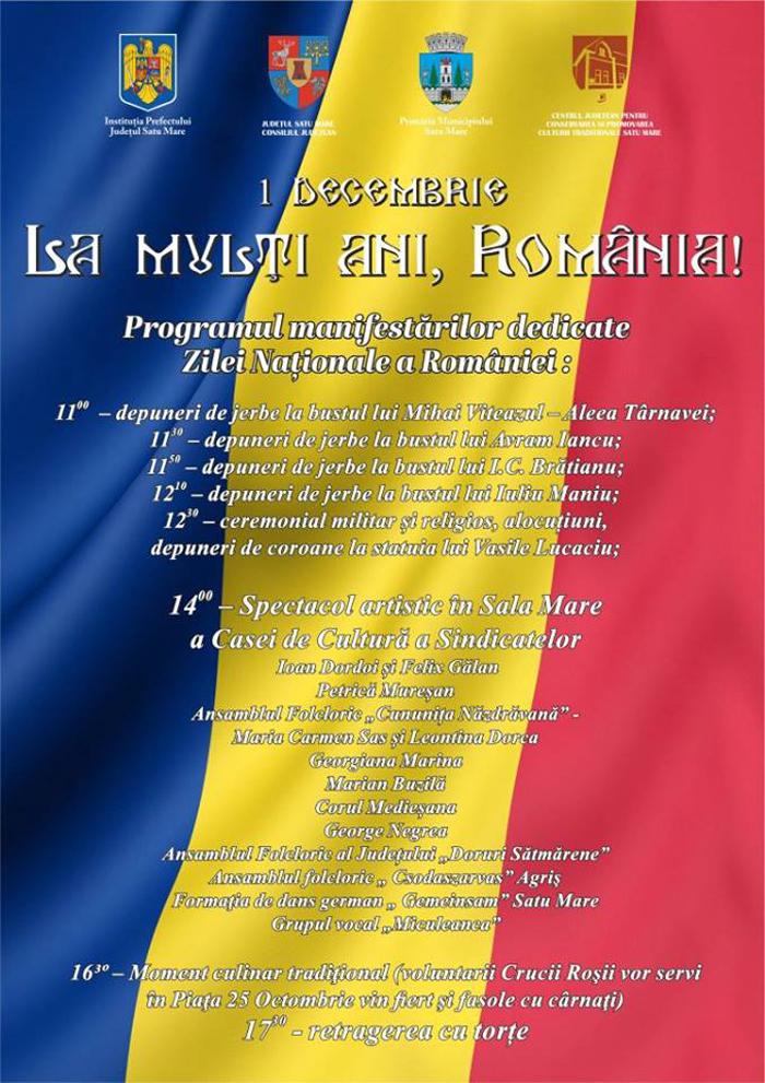 Azi este Ziua Națională a României ! Vezi programul dedicat marii sărbători