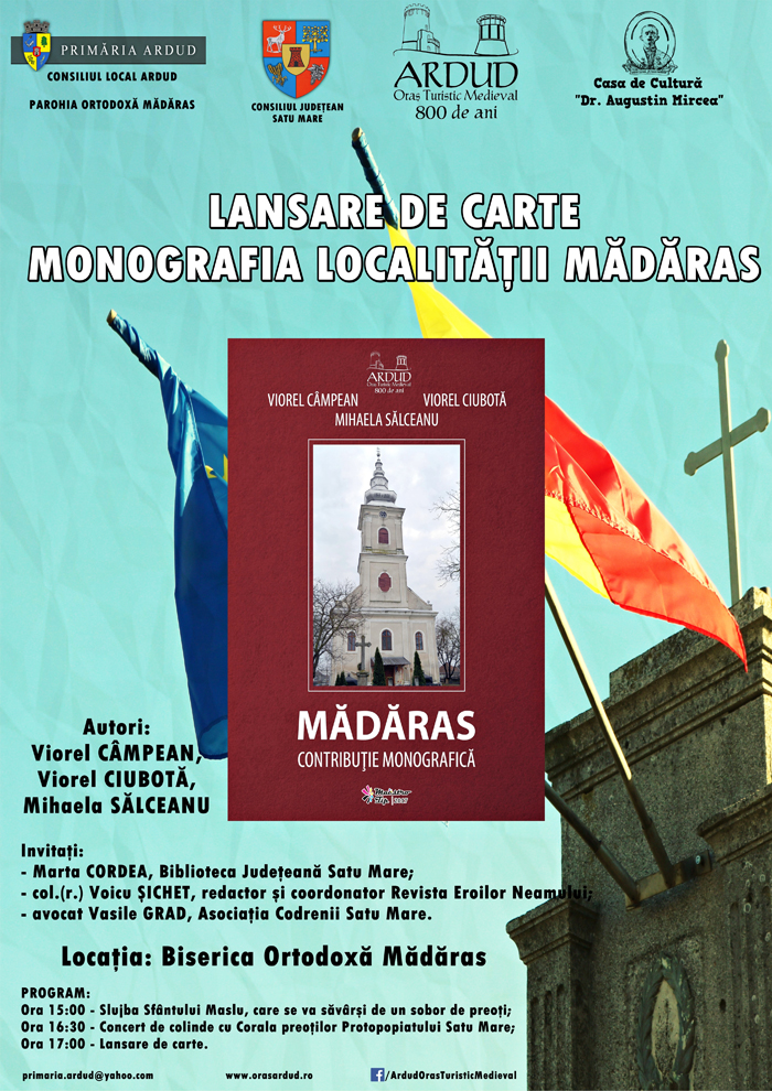 """Lansare de carte: """"Mădăras. Contribuție monografică"""""""
