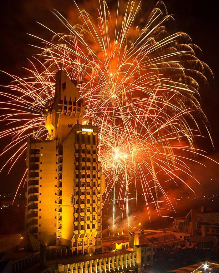 Foc de artificii în Noaptea de Revelion