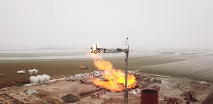 Imagini surprinse cu drona de la incendiul de la Moftin (Video)
