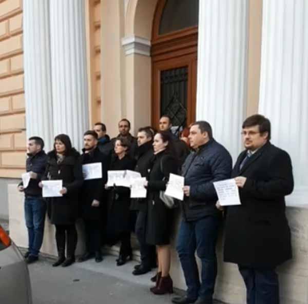 Protestul judecătorilor și procurorilor