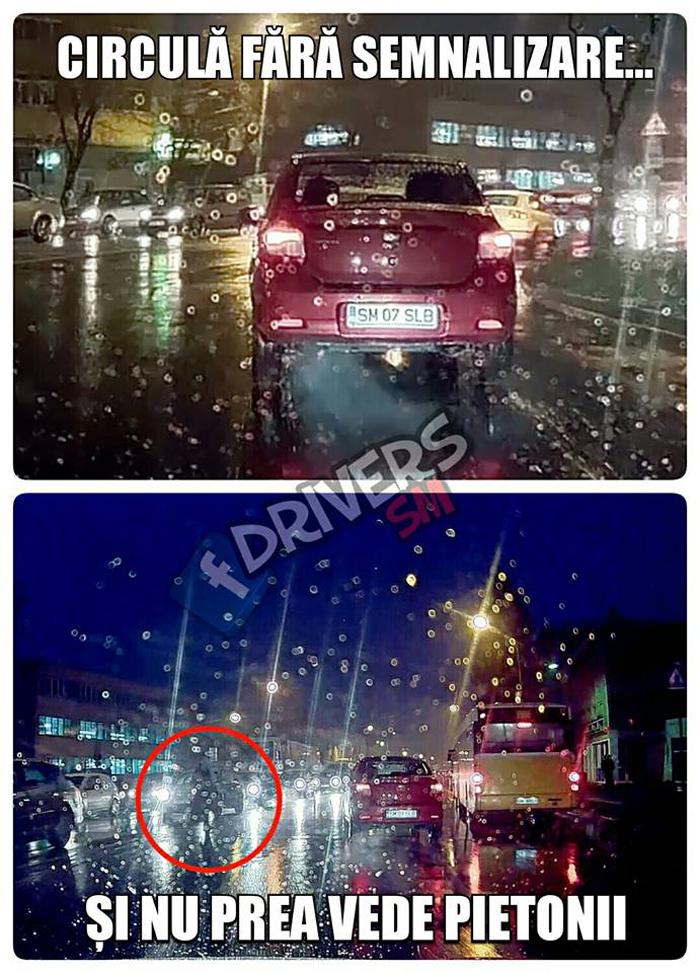Pericol public pe străzile din Satu Mare (Foto)