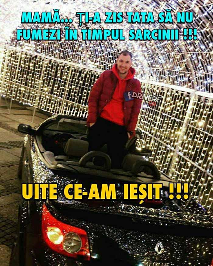 """""""Jmekerii"""" intră cu mașinile în tunelul de lumini din centru !"""