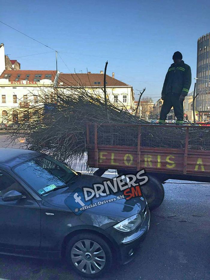 """Sătmărenii sunt revoltați: """"Mulțumim Florisal pentru mașinile zgâriate !"""" (Foto)"""