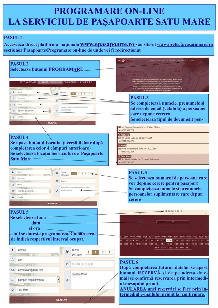 Cum să te programezi on-line la Pașapoarte