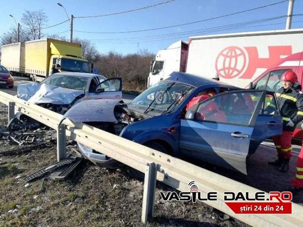 Accident provocat de un polonez. Un sătmărean, implicat (Foto)