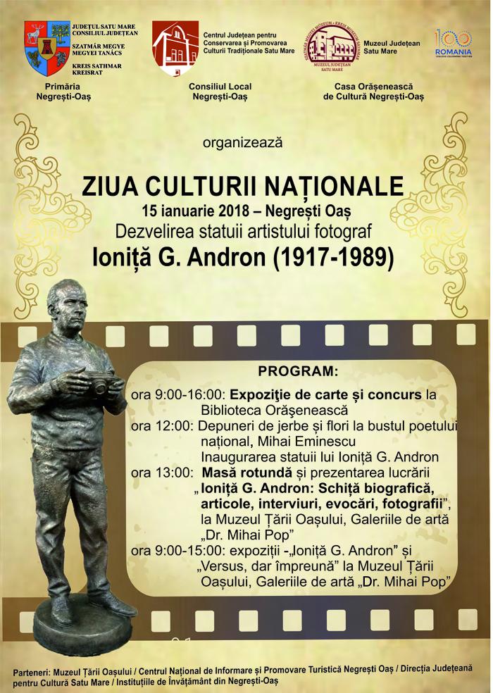 """""""Ziua Culturii Naționale"""" la Negrești-Oaș. Programul manifestărilor"""