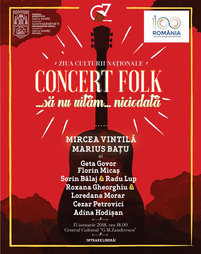"""Concert folk de """"Ziua Culturii Naționale"""""""
