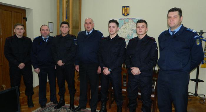 Patru  elevi în practică la Jandarmeria Satu Mare
