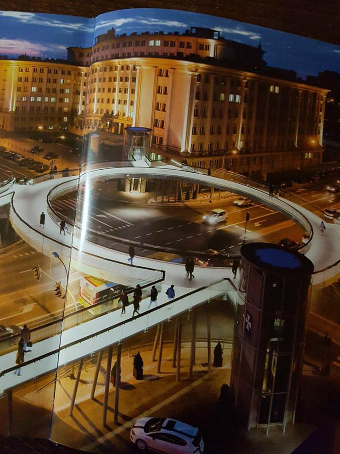 Soluția unui consilier local pentru zona Burdea. Pasarelă supraterană (Foto)