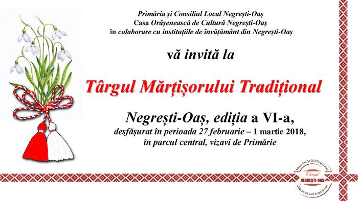 Târgul mărţişorului tradiţional de la Negreşti-Oaş ajuns la a VI-a ediție
