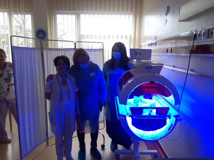 Donație de 10.000 de euro pentru Secția de Neonatologie (Fotogalerie)