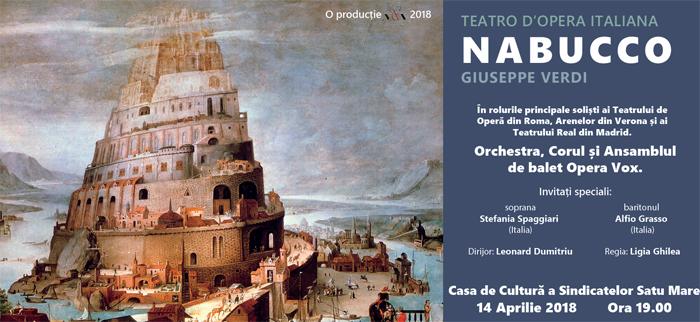 """""""Nabucco"""" de Verdi pe scena Casei de Cultură a Sindicatelor"""