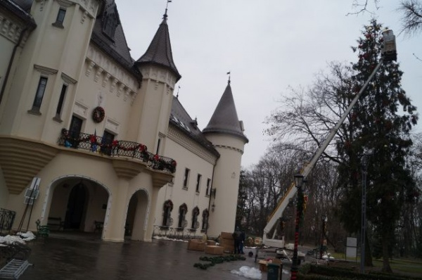Platou de filmare la Castelul din Carei (Fotogalerie)