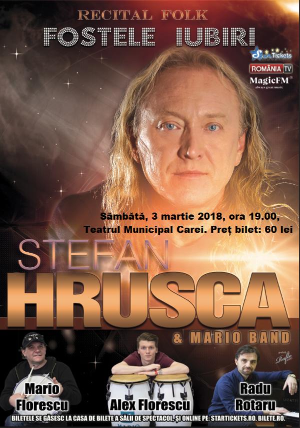 Ștefan Hrușcă vine în județul Satu Mare. Unde va avea loc concertul